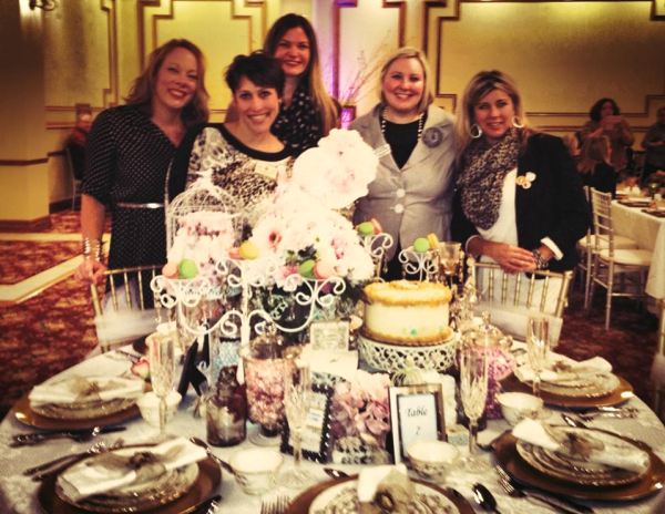 Chrissy Monaco, Karyn McCarthy, Lauren McFarland, Amy Vicioso and Shelbey Hammond at Big  Brothers Big Sisters Tablescapes Event at the GFWC Victorian Elegance Table.
